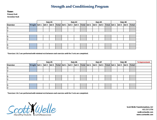 training program template