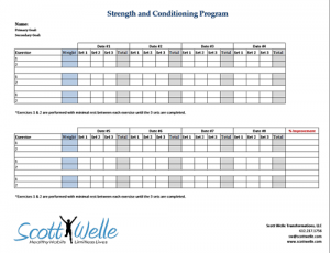 Strength Training Program Template
