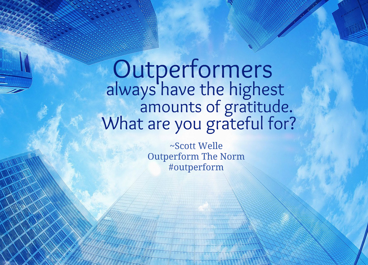 "The Outperformers Way of ""Giving Thanks"""