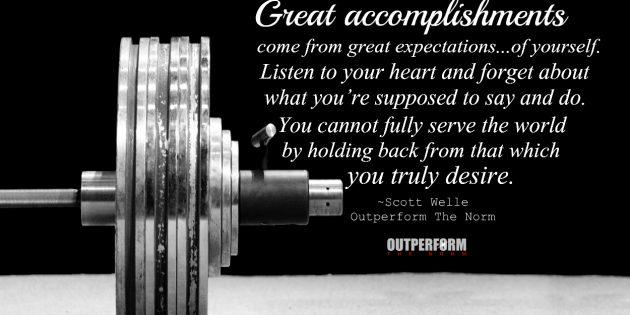 Motivation Outperform The Norm