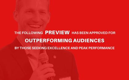 Scott Welle Outperform The Norm Motivational Speaker